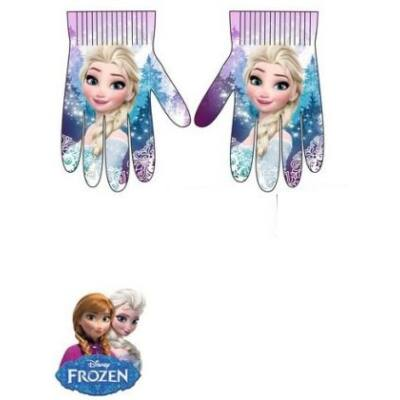 6-10 évesre lila kötött kesztyű - Frozen, Jégvarázs - ÚJ