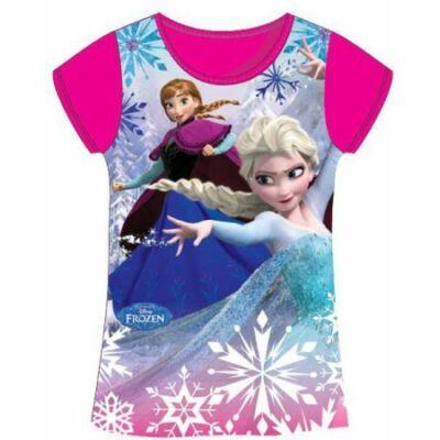 128-as pink lány póló - Frozen, Jégvarázs - ÚJ